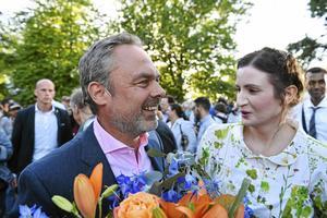 Jan Björklund och Birgitta Ohlsson har enligt Ohlsson en professionell relation. Det går att ana att den för tillfälligt är frostigare än när den här bilden togs i Almedalen förra året.