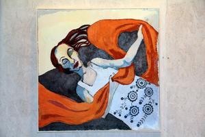 Timmarna går vid min sida - oljemålning av Torun Eliasson.