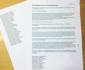 Protestbrevet från de 40 kirurgerna i Falun.
