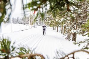 Den här vintern har Södra berget bjudit på fina förutsättningar för skidåkning.