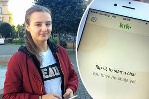 På det sociala mediet Kik kan du chatta med Kristin under kontonamnet TryggHjälteGävle.