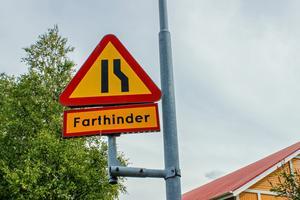 Farthinder vid Josefsdalsvägen.