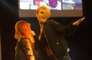 Publiken bjöds på en fartfylld show. Här ser vi Pippi Färlén i action.
