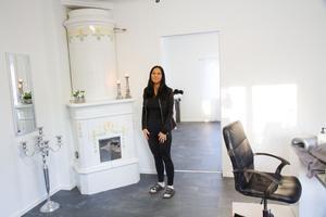 Isabell Nilsson har gjort om ett hus i Karlbo till skönhetssalong.