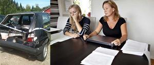 Katarina Krigmans dotter, Tone Sundberg, hade lånat bilen när den stals utanför hennes lägenhet i Forsbacka.
