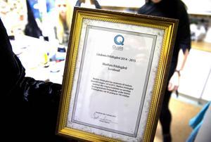 Diplomet till Matfors fritidsgård