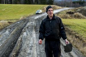 Vägen i Vike består mest av lera.