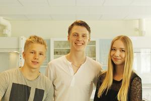 Jonathan Thunborg, Wille Bäck och Isabelle Söderqvist går på Svanberga skola.
