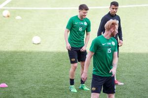 Boris Ljevar tränade hela fredagsträningen med laget.
