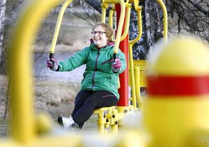 – Nu är det mycket roligare att träna, tycker Lena Andersson.