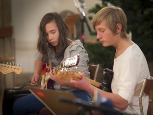 Allt, från barnvisor till rock, spelades i kyrkan.