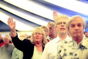 Innan Göran Skytte började tala fick åhörarna resa på sig.