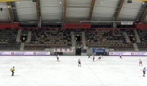 Ett öde Göransson Arena.