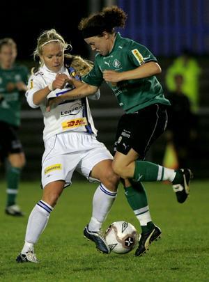 Linda Nöjd (till höger) träffar Kif Örebro i morgon.