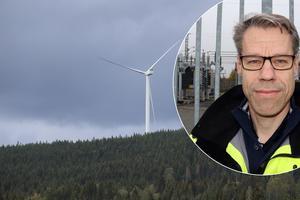 Peter Johansson, elnätschef på Borlänge Energi, är laddad för att ta emot vindkraft från Orrberget.
