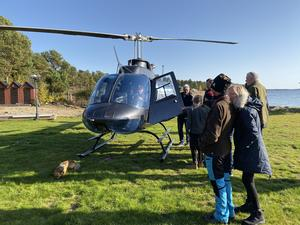 Helikoptern var jättespännande, tyckte barnen.