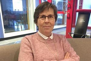 Ingrid Krylén, konsumentvägledare som gästade PRO Svegs medlemsmöte. Foto: Dan Wiklund