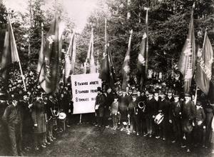 Från den första första maj-demonstrationen. Ur TT:s arkiv.