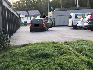Maria kunde dokumentera större delen av bilinbrottet. Bild: privat