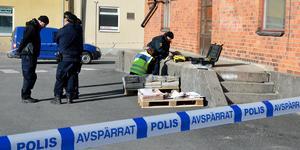 Området runt en lastkaj vid stationsområdet i Lindesbergs spärrades av den 11 april 2018 efter en misstänkt våldtäkt. Nu har polisutredningen lagts ner.