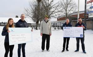 Fina och välbehövliga pengar har skänkts till ungdomsidrotten i Värnamo Volley och Gislaved VK.