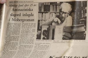 Sabines upptäckt blev en riksnyhet, här Dagens Nyheter 1972.