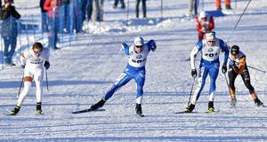 Martin Bergström, Umeå före klubbkompisen Marcus Grate och trean Olof Jonsson, Trillevallen.