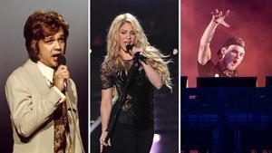 Björn Skifs, Shakira och Avicii har alla haft sina sommarplågor på topplistorna genom åren.Foto: TT
