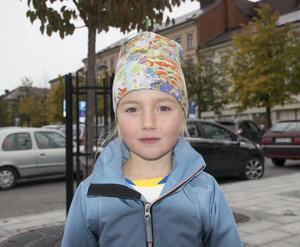 Clara Simonsson, 5, Njurunda.
