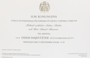 Sakine Madon är tillsammans med sambon Daniel Månsson inbjudna till Sverigemiddagen fredagen den 14 september.