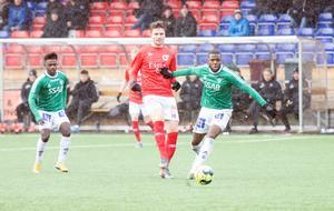 Christian Kouakou (till höger) assisterade fint när Kristian Andersen (till vänster) gjorde sitt andra mål i slutet av första halvlek.