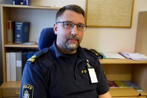 Erik Bylund förundersökningsledare vid polisen i Kramfors. Arkivfoto: Katarina Lind