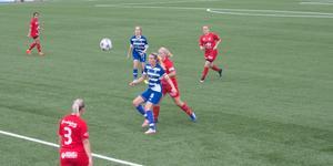 IFK Moras lagkapten Fanny Eriksson var besviken efter matchen.