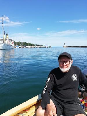 Stuart Bowen var på väg hem efter en fiske tur i Norge när husbilen träffades av blixten.