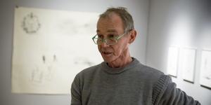 Håkan Wennström hittade nya konstnärliga uttryck under sin svåra tid på sjukhus.
