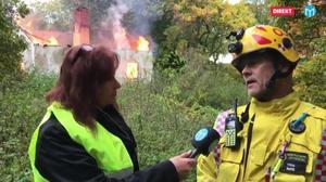 Räddningstjänstens yttre befäl i Sala-Heby,  Ove Jansson, vet inte vad som orsakade villabranden men säger att det finns likheter med branden som skedde i augusti 2012. Då brann en lada ner på samma tomt vid Salaborg.