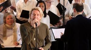 Tommy Nilsson gav dubbla konserter i Norrtälje kyrka på söndagen.