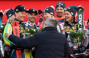 Mattias Hargin, Frida Hansdotter och Anna Swenn-Larsson finns alla med i den alpina landslagstruppen.