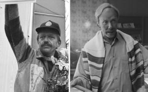 Hasse P (Hans Pettersson) till vänster. Foto: Bärgslagsbladet. Till höger Mikael Persbrandt som Hasse P. Foto: SF Studios.