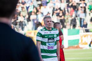 Simon Johansson gjorde två mål i vårens match mot Syrianska