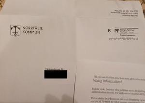 Ett av breven som skickades till vårdnadshavare i Norrtälje.