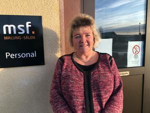 Ann-Louise Eklund på det sociala företaget Malung Sälen Föreningar är glad över att man lyckats få till en snabb lösning.