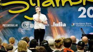 15-åriga Adde Chruzander deltog i artisttävlingen Stjärnskott på Vårmässan.