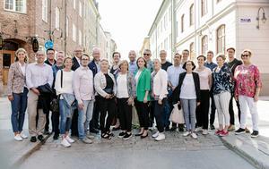 Det är cirka 30 personer som har börjat roddat inför SM-veckan 2019. Här på första uppstartsträffen i torsdags. Bild: Petra Berggren