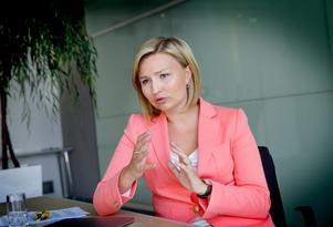 Angela Merkel i Tyskland är en förebild för Ebba Busch Thor: