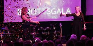 Linda Wrangell Sjögren och Karolina Losell ledde Norrtälje Idrottsgala som festens nya konferencierer.