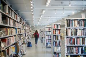 93 procent av dem som arbetar på folkbibliotek uppger att de har upplevt social oro, till exempel bråk eller respektlöst beteende från besökare.  Bild: Simon Rehnström/SvD/TT