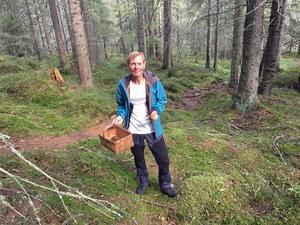 Svampkonsulenten Lennart Vessberg har trots torkan i sommar redan hittat rikligt med svamp i skogarna.