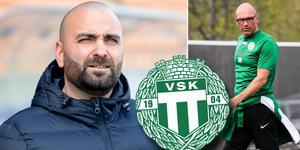 VSK:s ordförande Andreas Dayan och tidigare tränare Tor-Arne Fredheim.