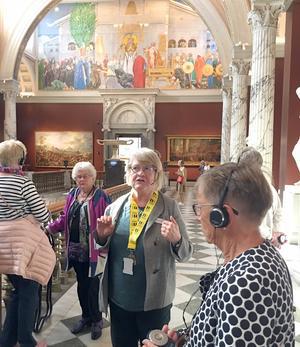 Midvinterblot av Carl Larsson var ett av många stora verk man såg vid besöket.